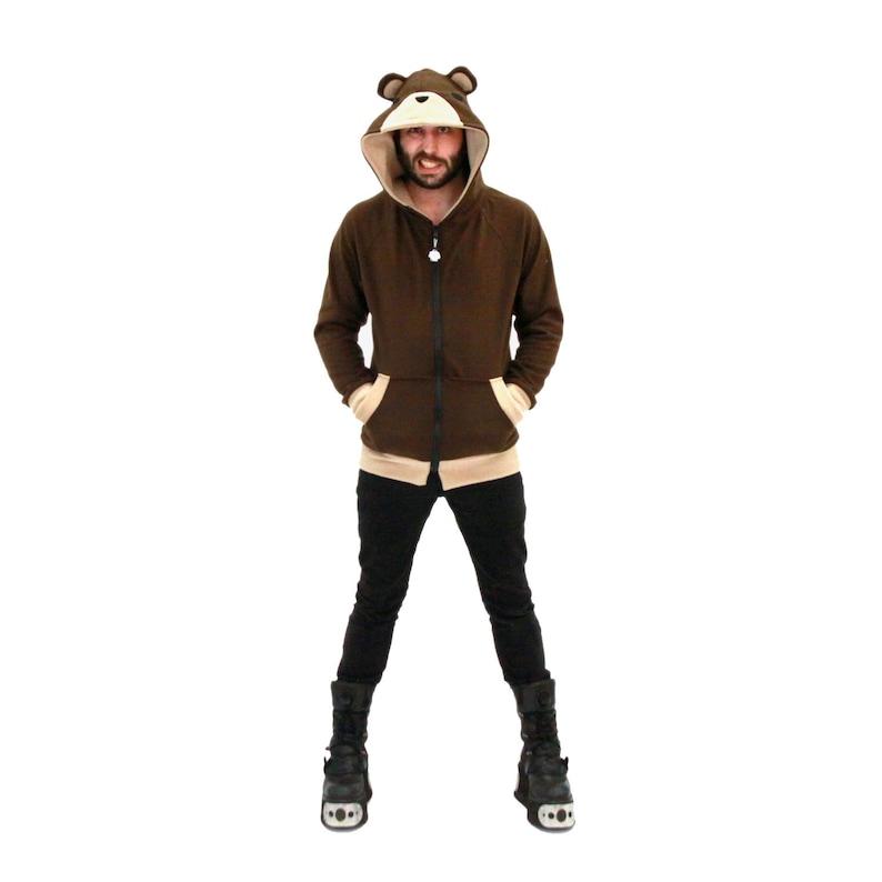10a339d07 Pawstar TEDDY BEAR HOODIE Animal Ears Jacket Coat Halloween image ...