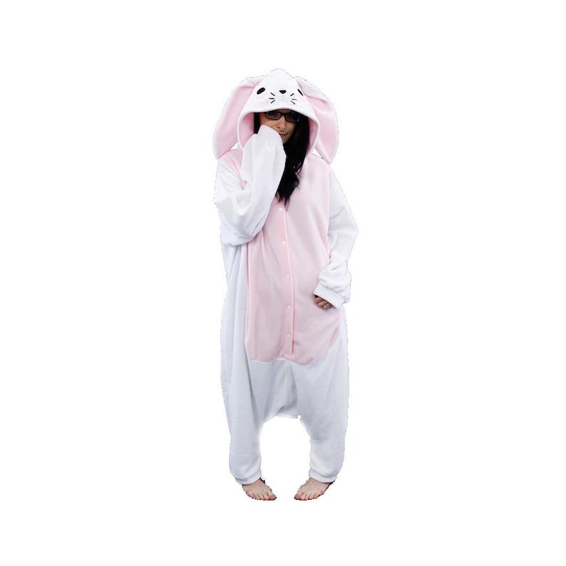 Pawstar Bunny Loves You Kigu Kigurumi White Brown Tan Black Gray Best Quality Spring Easter Adult Onsie Pajamas Halloween Costume 6327