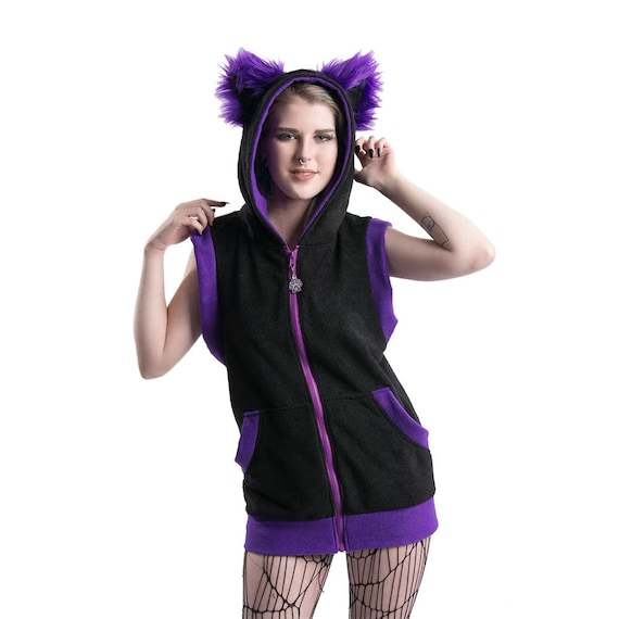 Adult Costume Purple fluffy PAWSTAR Furry Kitty Cat Ears /& Tail Set 4000 PU