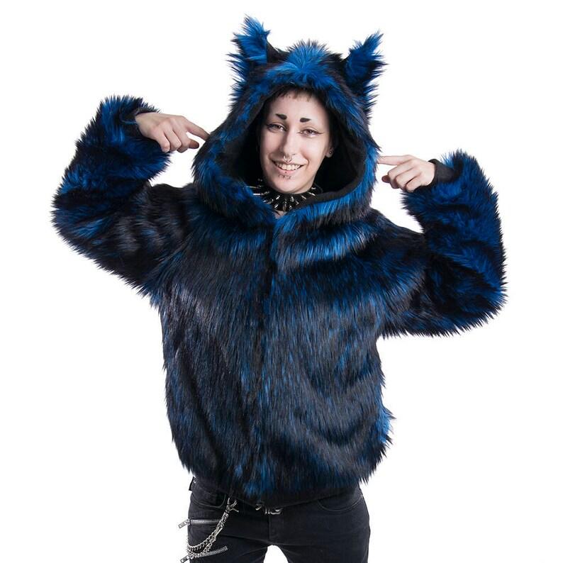 271147948 Pawstar Fancy Full Fur Wolf Hoodie Fur coat Furry Sweater | Etsy