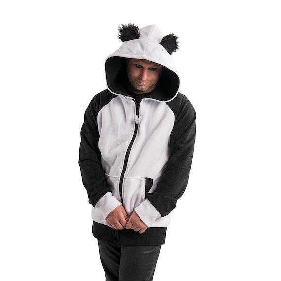 best website 9697f 3fbd6 Pawstar Panda Felpa con cappuccio - cappotto giacca orecchie pelose costume  Cosplay abbigliamento di Anime Kawaii kigurumi fursuit giapponesi ...