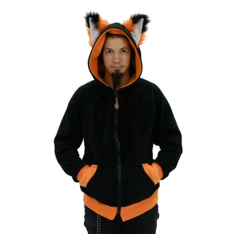9f111f158a960 Pawstar FOX YIP Hoodie Furry Ears Jacket Cosplay costume