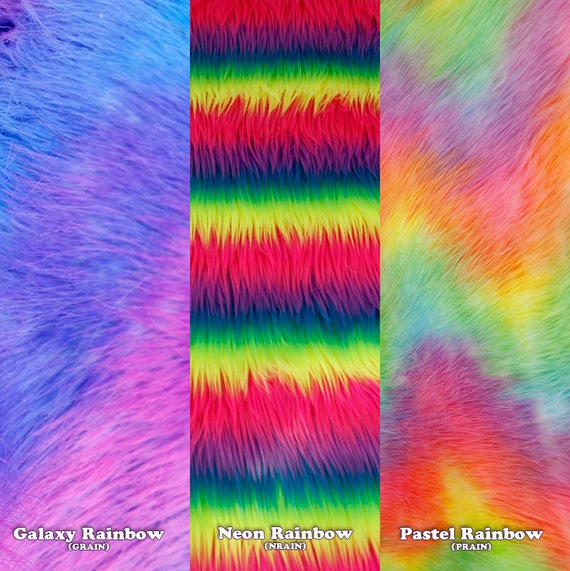 3174 PAWSTAR Fingerless Paw Gloves NRAIN Furry Neon Rainbow Gay Pride Rave