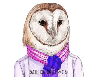 Mrs. Barn Owl - Archival Print