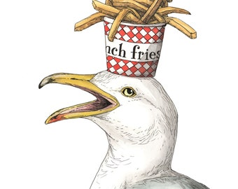 """Gull + Fries - """"On my Mind"""" - Archival Print"""