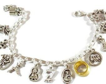 12 Days of Christmas Bracelet Holiday Jewelry  Holiday Charm Bracelet Christmas Jewelry Christmas Bracelet Festive Jewelry 12 Days Christmas