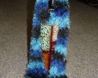 Blue Fuzzy Scarf FREE SHIPPING on 2nd Item to Same Address