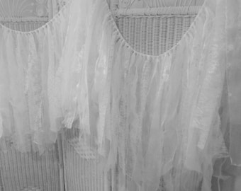 Fabric garland- Lace and Organza Wedding /Bridal Shower