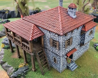 Port Tavern village terrain building by Printable Scenery