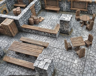 Simple Furniture scatter terrain by Printable Scenery