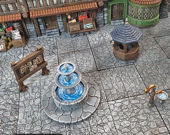 Town Square scatter terrain by Printable Scenery