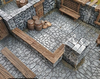 Stone Bar Scatter terrain by Printable Scenery