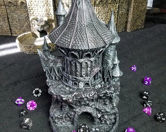 Fates' End Sorcerer Dice Tower w/ textured tray-Painted, table-ready