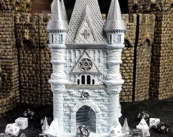 Fates' End Cleric Dice Tower w/Textured Tray-Painted & table ready