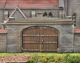 Medieval Church Gates village terrain building by Printable Scenery