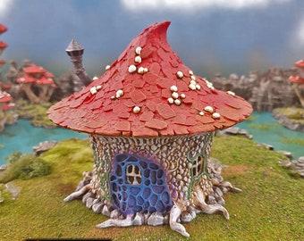 Goblin Mushroom Hovel, Goblin Grotto terrain by Printable Scenery