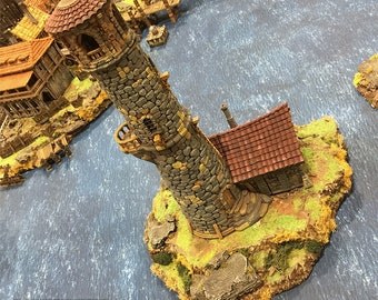 The Lighthouse village terrain building by Printable Scenery