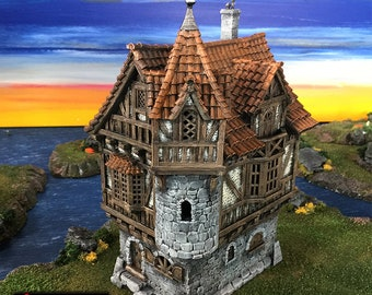 Governor's Mansion village terrain building by Printable Scenery
