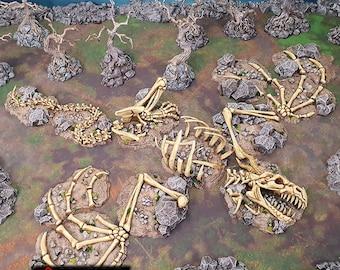 Dragon Graveyard scatter terrain by Printable Scenery