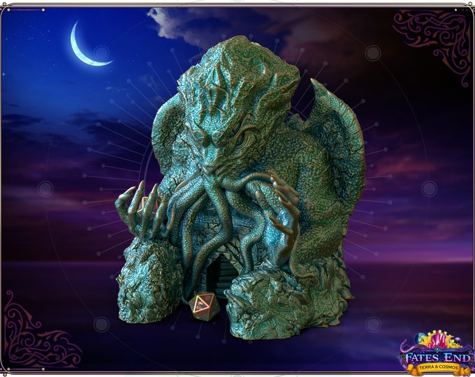 Featured listing image: Fates' End Cthulhu Dice Tower