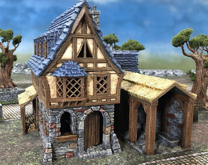 Featured listing image: Winterdale Tavern village terrain building by Printable Scenery