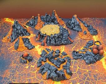 Dragon Lair / Hatchery / Hoard terrain by Printable Scenery