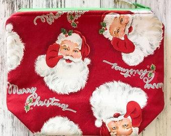 PRE-ORDER Santa Claus Knitting or Crochet Project Bag