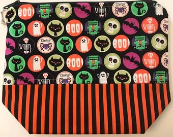 READY TO SHIP Halloween Spirit Knitting or Crochet Project Bag