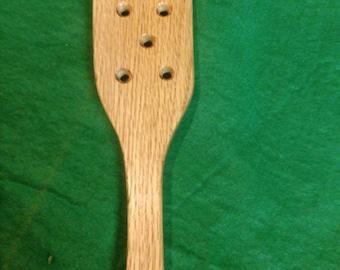 BDSM hairbrush style spanking paddle oak with or without holes mature