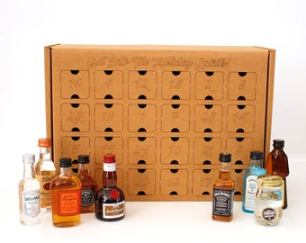 DIY Advent Calendar for Nips, Miniatures, Airplane liquor bottles