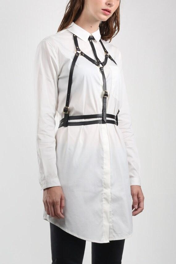c9dd3e104 JAKIMAC Strap Down Harness   Adjustable Genuine Leather Halter