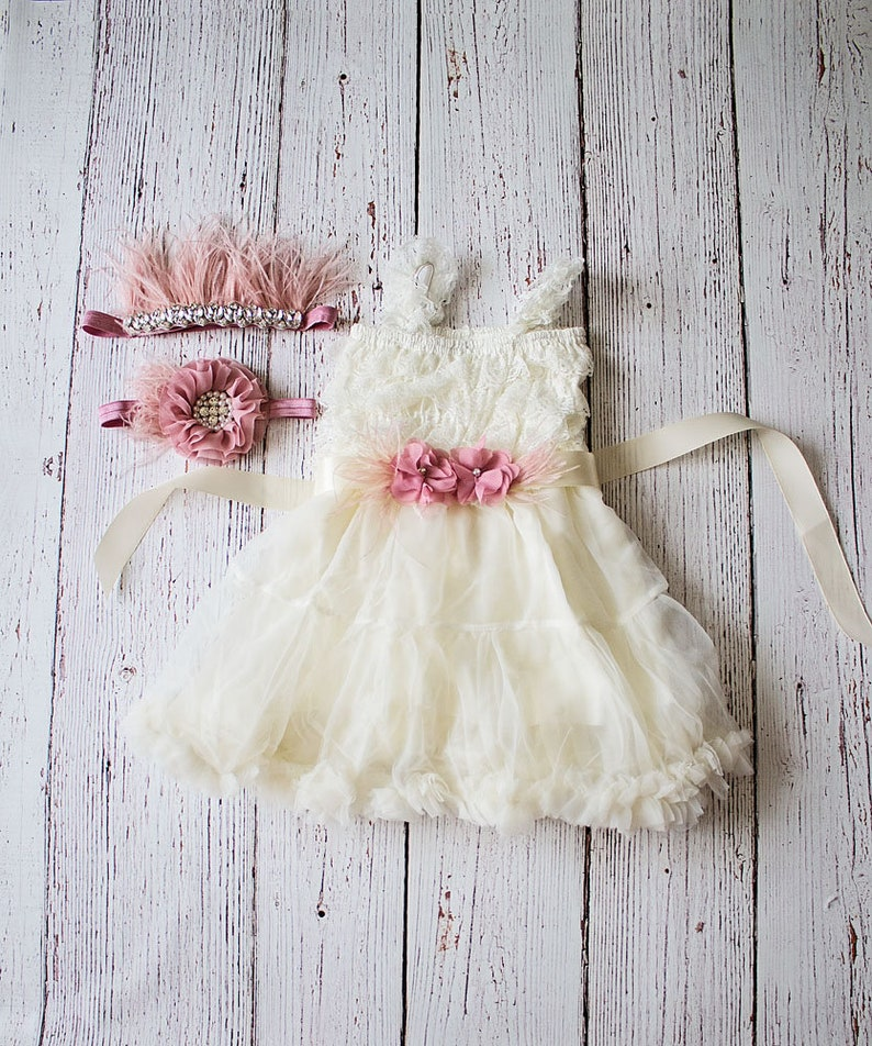 08527c19a8 Girls Dresses Flower Girl Dress Mauve Flower Girl Dress