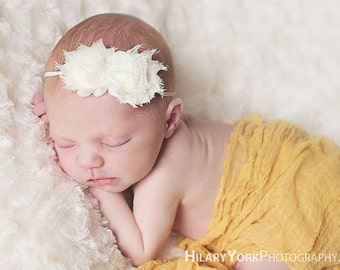 baby headband..hair accessories for baby girl shabby chic baby headband photography prop and toddler girl headband