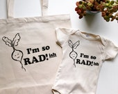 I'm so RADish! Tote Bag - Canvas Tote - Recycled Tote Bag - Market Tote Bag - Radish