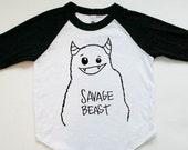 Savage Beast - Raglan Tee - Tee Shirt - Monster