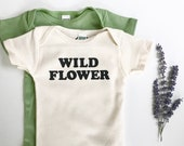 Wild Flower - Organic Baby One-piece - Wild and Free - Sun Flower - Boho Babe