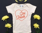 GIRL POWER - One-piece - Baby Romper - Equality - Feminist Baby - Natural White - Organic Romper