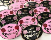 We Rise Together Pin - Hard Enamel Pin - Equality - Feminist Pin - Girl Gang - Girl Boss - Black and Lavender or Pink and Red - Enamel Pin