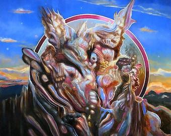 Juice the Summit original oil painting by artist Douglas Lakota