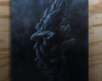 Dark Pretender III Original Oil Painting