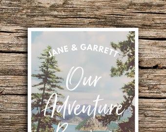 Bohemian Adventure Postcard Save the Date // Mountain Save the Date Postcard Idaho Wedding Lake River Pacific Northwest Adventure Begins