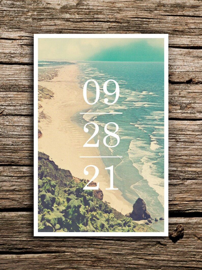 At the Beach Save the Dates // DIGITAL DOWNLOAD // Postcard image 0