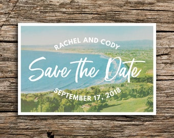 California Cove Save the Date Postcard // Los Angeles Palos Verdes Save the Dates Beach California Postcard Postcards Southern Bohemian
