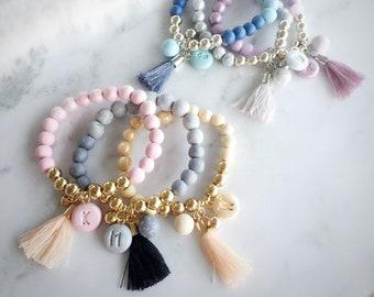 Name Beaded Bracelet Etsy