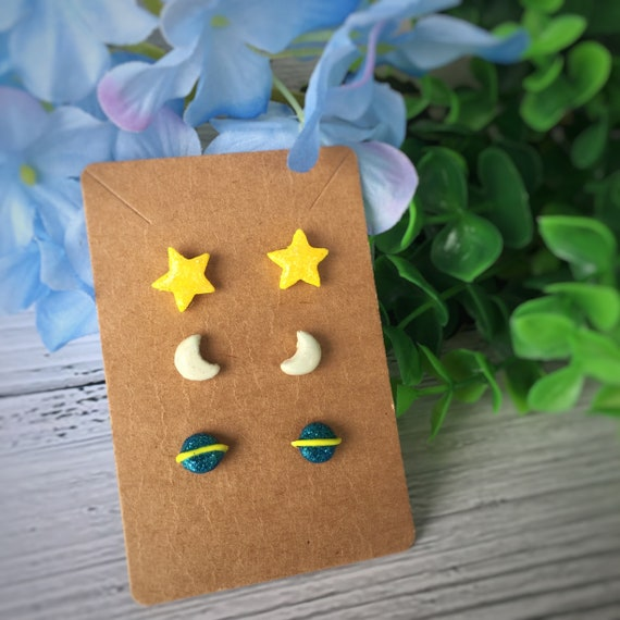 3 for 10 Clay earring studs