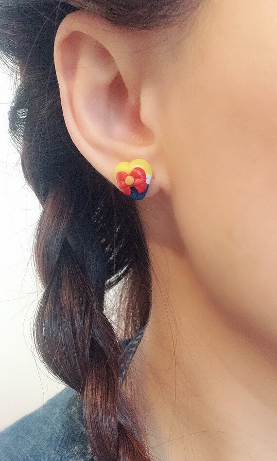 Made in Melbourne Polymer Clay Earrings Lover/'s Bow Earrings Statement Earrings