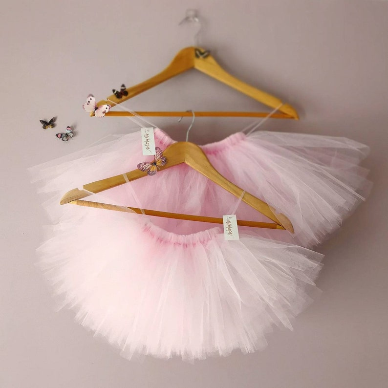 Pink Ballerina Dress on Yellow Hanger /& Pink Rose Wall Decoration w// Defects