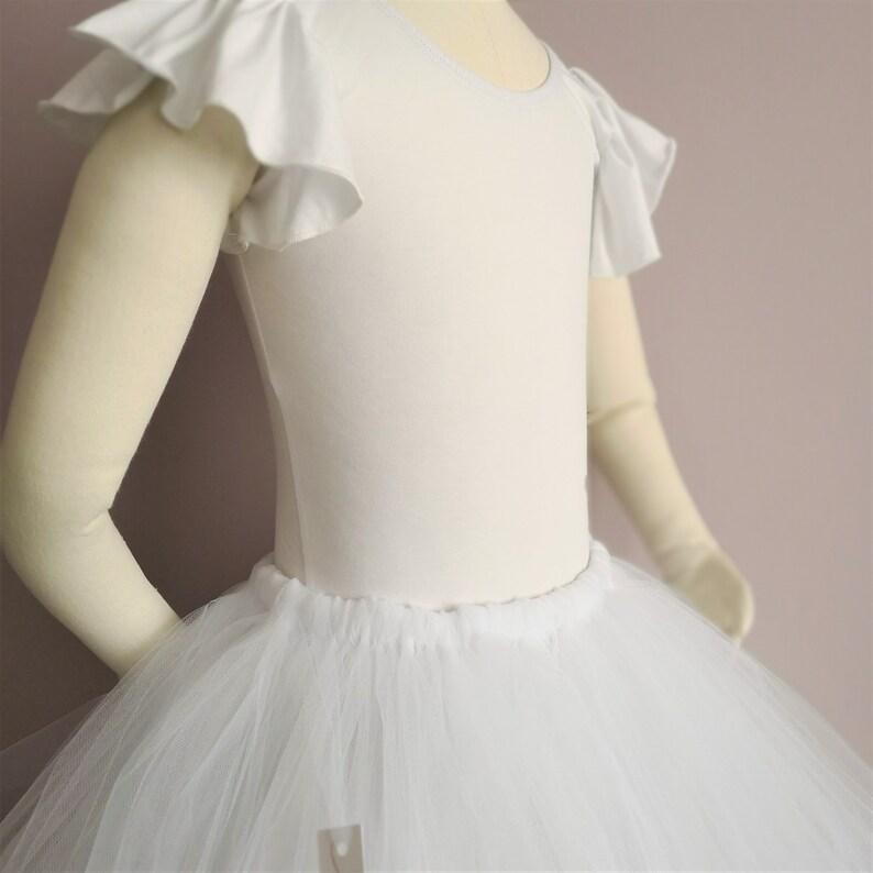 Flower girl skirt UK Tulle Ballet Tutu Skirt Ankle Length WhiteIvoryPeachCustom Colour Tulle Skirt Bridesmaid tutu Bridesmaid Skirt