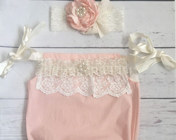 42ef3ca63d44 ... headband-gold glitter bubble romper headband set-cake smash outfit   12.99 Baby girl outfit-baby girl clothes-baby romper-bubble romper-newborn  girl