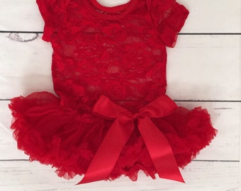07a90327bd4e Baby girl tutu outfit- red tutu dress-red tutu bodysuit dress-Valentines  Day baby outfit-Valentines Day tutu outfit for girls-newborn tutu